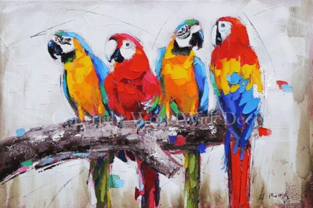 Macaws in the evening