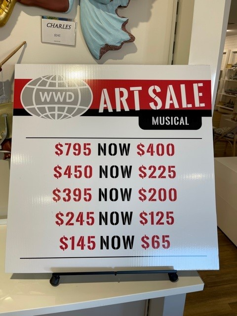 We have a sale of Musical Statues
